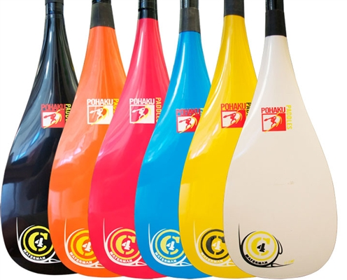 C4 1pc Fiberglass Paddle (Color Blade) – C4 Waterman